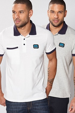 Henleys Pack Of 2 Polo Shirts