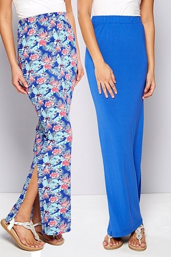 Be You Pack Of 2 Side Split Maxi Skirts