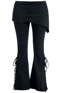 Urban Fashion 2-in-1 Boot-Cut Leggings with Slant Skirt