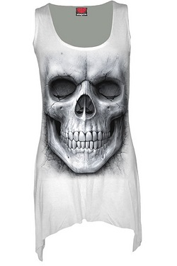 Solemn Skull Goth Bottom Vest Dress