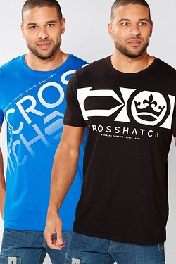 Crosshatch Pack Of 2 T-Shirts