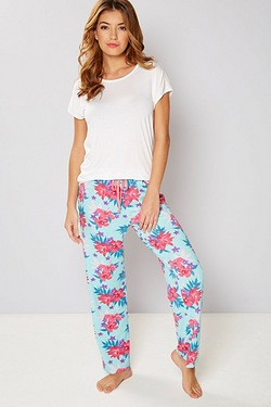 Short Sleeve Floral Pyjamas