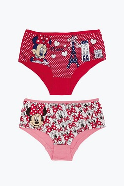 Girls Pack of 2 Minnie Mouse Briefs