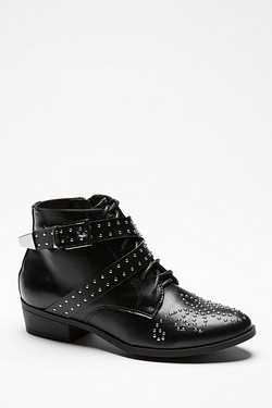 Be You Studded Ankle Boot With Buckle
