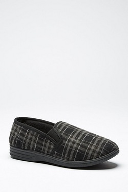 Checked Full Back Slipper