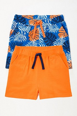 Boys Hawaiian Pack Of 2 Shorts