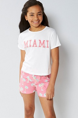 Older Girls Co-ordinated Top and Shorts Set - Miami