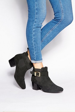 Be You Suede Buckle Ankle Boot