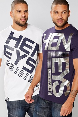 Henleys Pack Of 2 T-Shirts