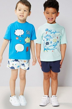 Young Boys Pack Of 2 Shorts