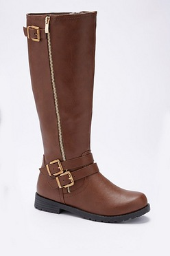 19ad42093 Zip and Buckle Tall Boots