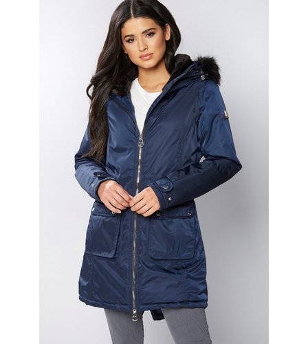 915b95d65bcdd Regatta Lucasta Faux Fur Trim Hooded Coat