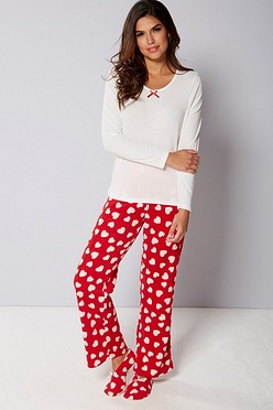 7649fbba3a Pyjamas and Matching Slipper Socks Set