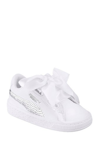 460661672339 Image for Girls Puma Basket Heart Bling Trainers from studio