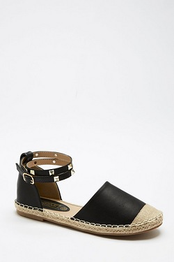 Be You Studded Ankle Espadrille