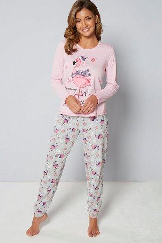 031834ac9 Christmas Long Sleeve Flamingo Pyjamas