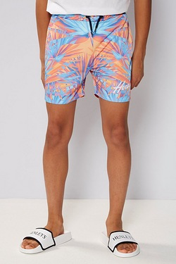 Boys Beck and Hersey Swim Short - Orange/Turquoise