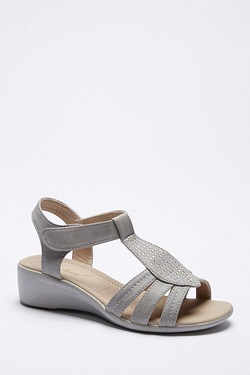 Dr Keller T Bar Wedge Sandal