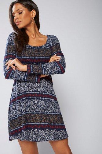 410cda0f467 Image for Apricot Empire Folk Posy Stripe Dress Size XL from studio