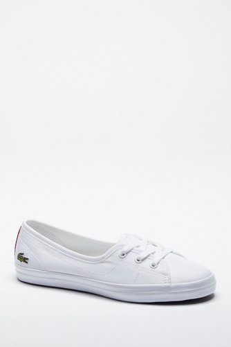 b8283040d575 Image for Lacoste Ziane Chunky Canvas Trainers White Size 6 from studio