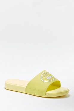 7b158a4bf Junior and Youth Lacoste Yellow Sliders
