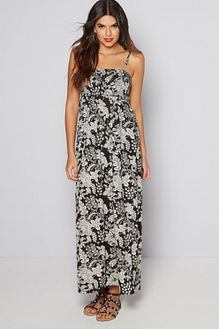 14c82d5a854 Mono Print Bandeau Maxi Dress