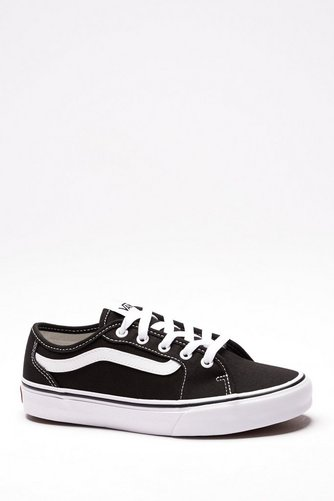 8fa0345aa6 Image for Vans Filmore Canvas Trainers Black White Size 4 from studio