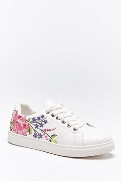 b724055793 Floral Embroidered Trainers