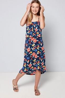 5b9e7dd3d Girls Summer Print Floral Maxi Dress