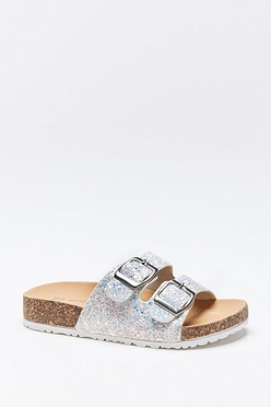 96917d6c0ddc Older Girls Glitter Strap Sandals