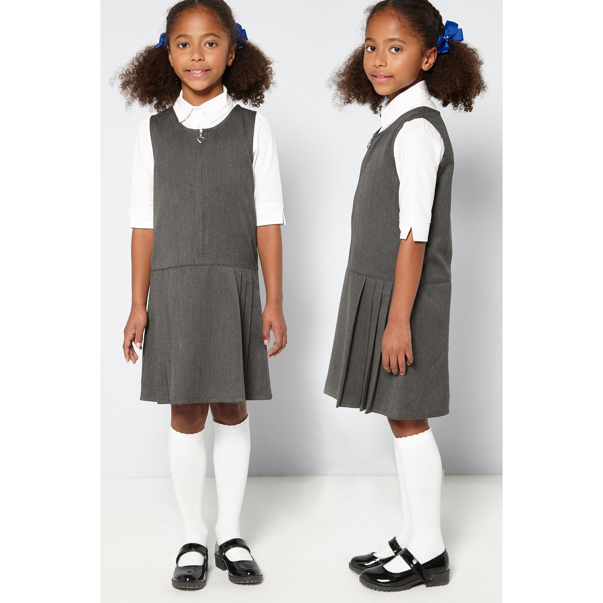 Image of Girls Pack of 2 Pinafores