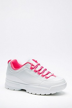 a643f06638 Neon Lace Chunky Trainer