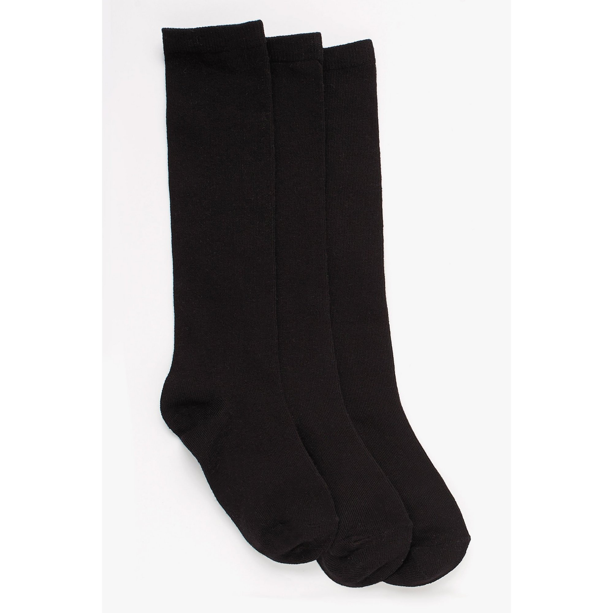 Image of Girls Pack of 3 Knee High Socks