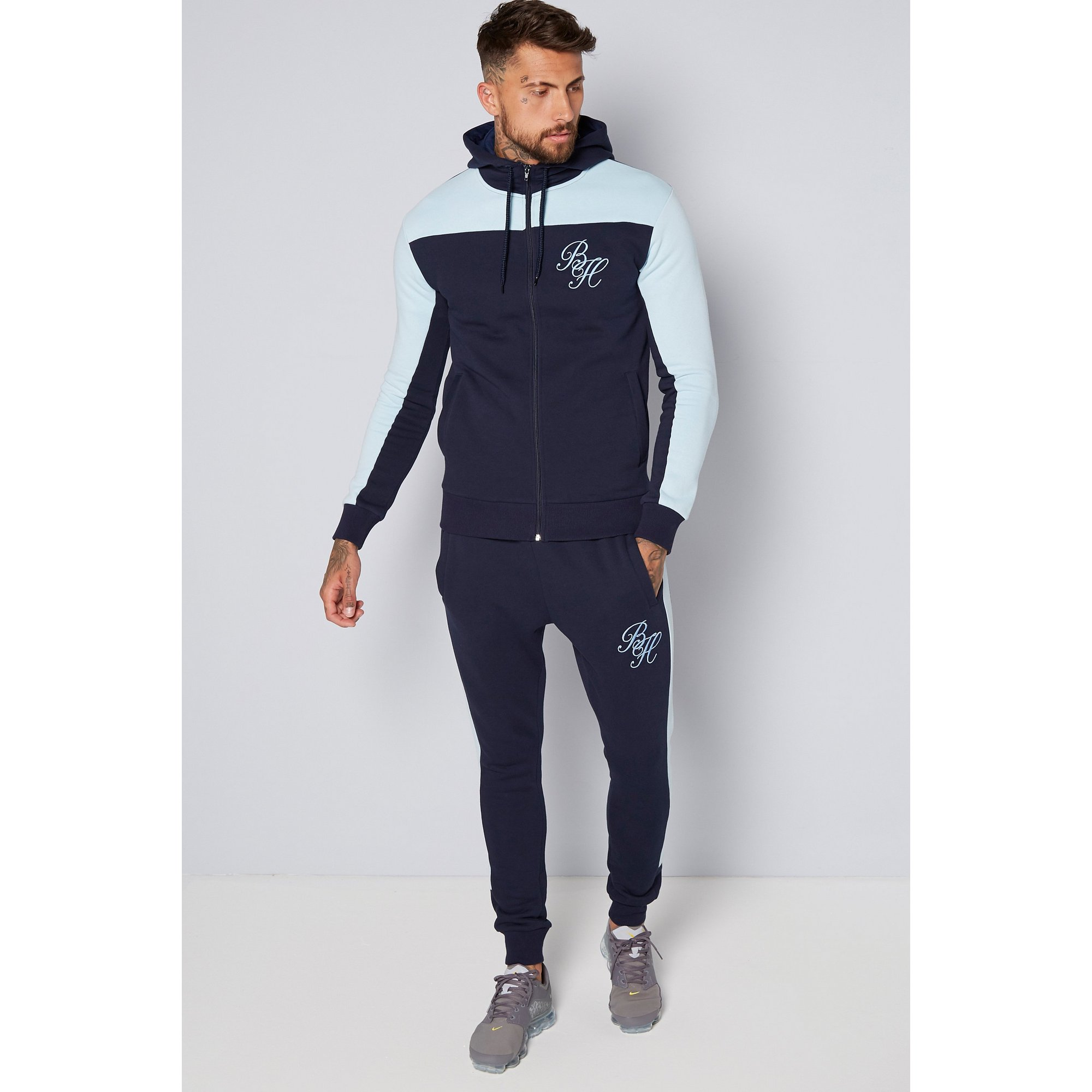 Image of Beck and Hersey Colour Block Tracksuit