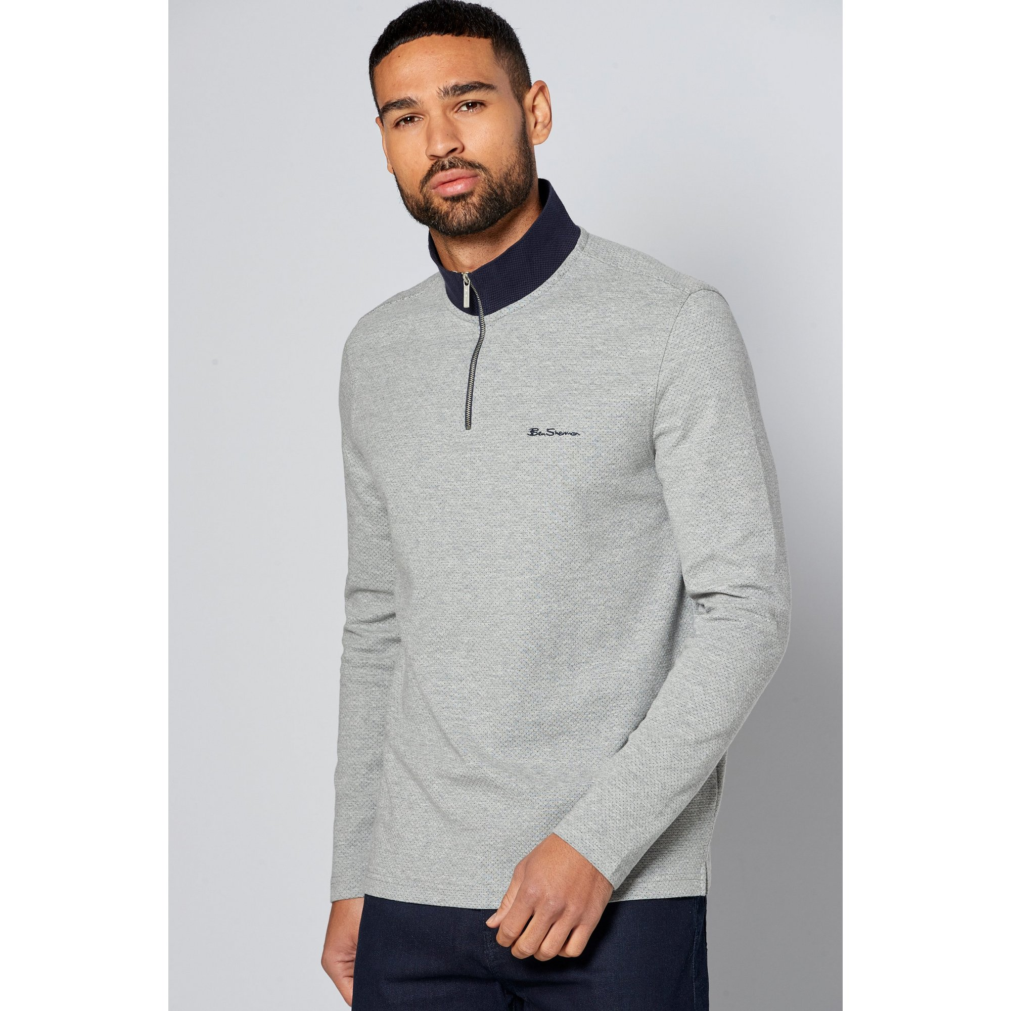 Image of Ben Sherman 1/4 Zip Sweatshirt
