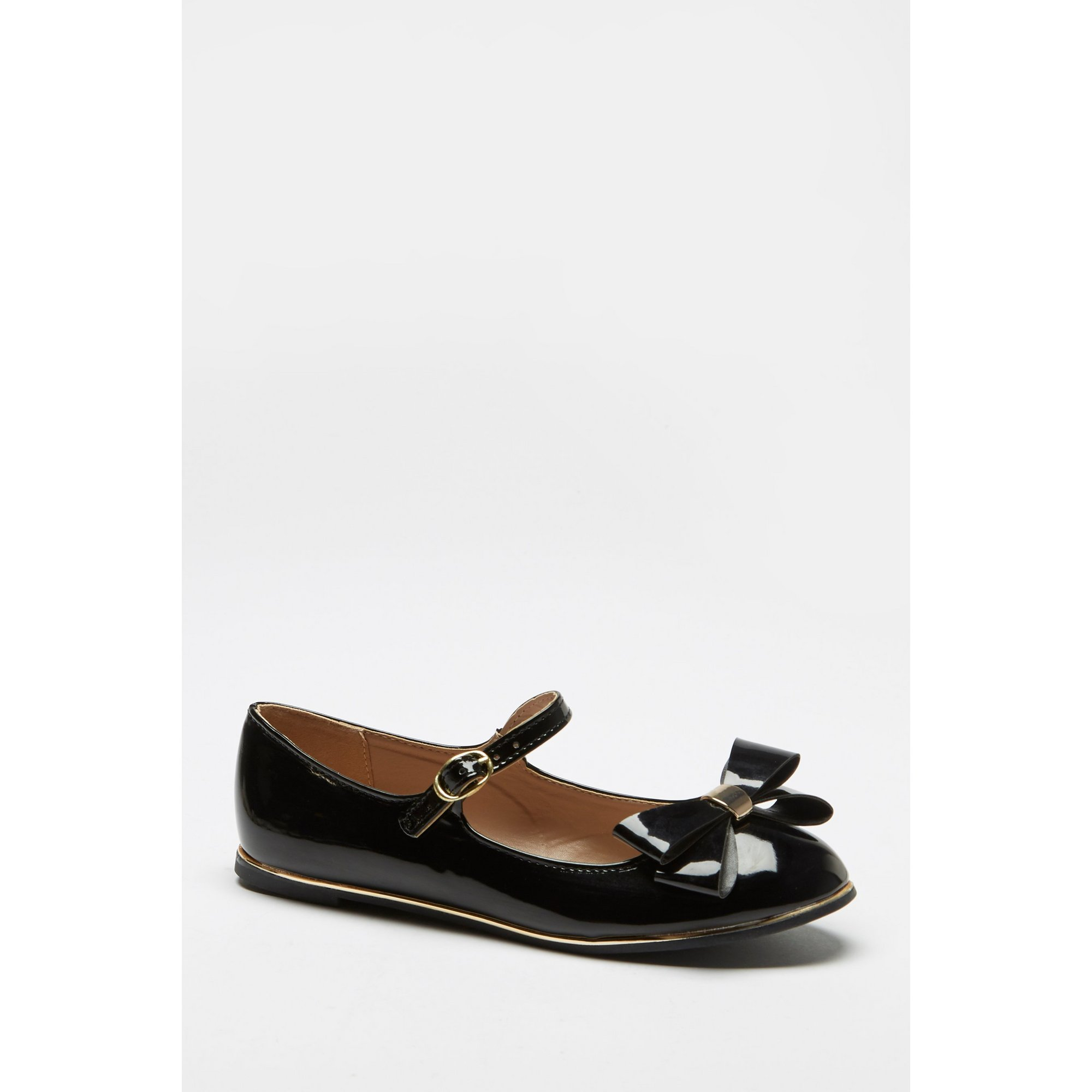 Image of Girls Flat Mary Jane Bow Front Shoes