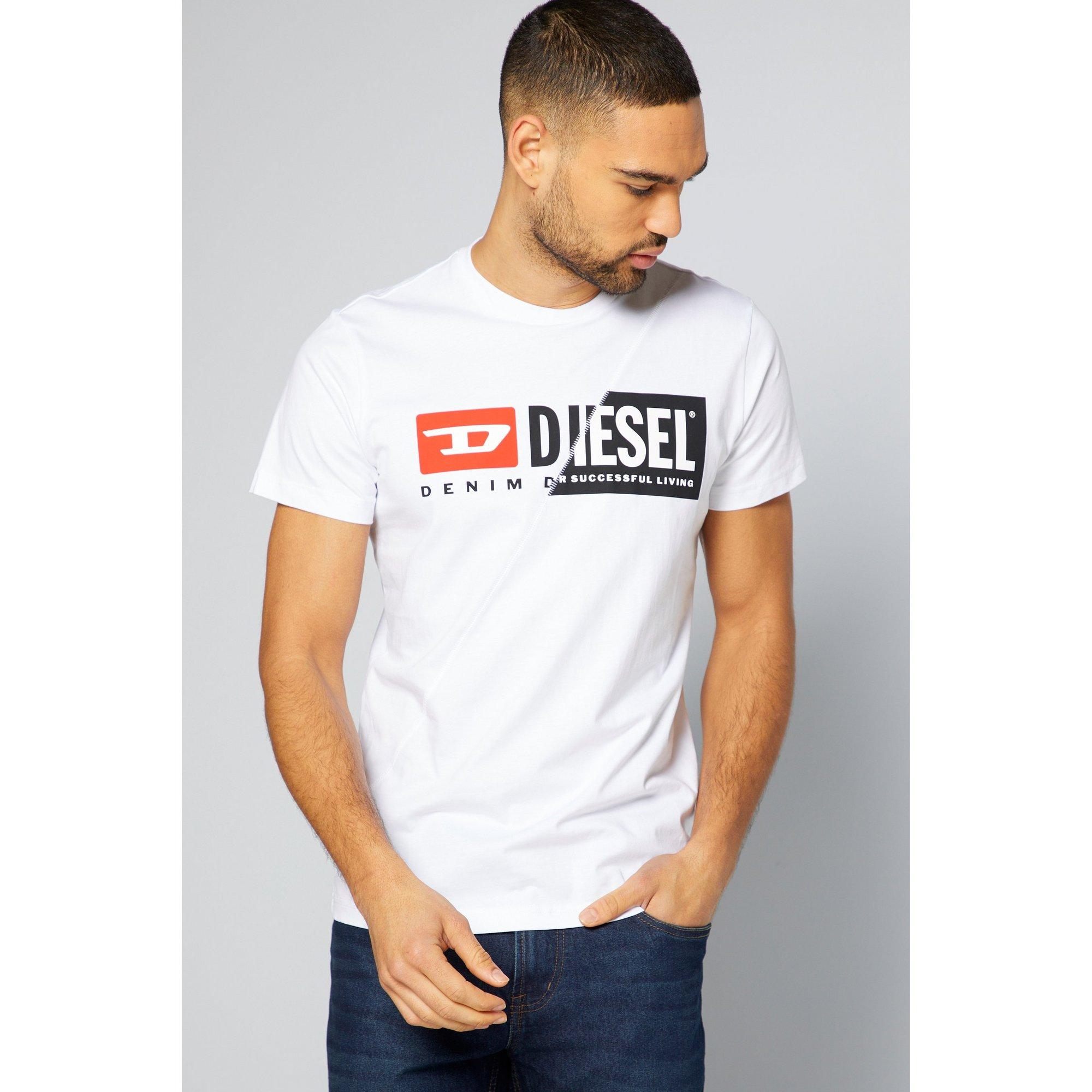 Image of Diesel Diego Logo White T-Shirt
