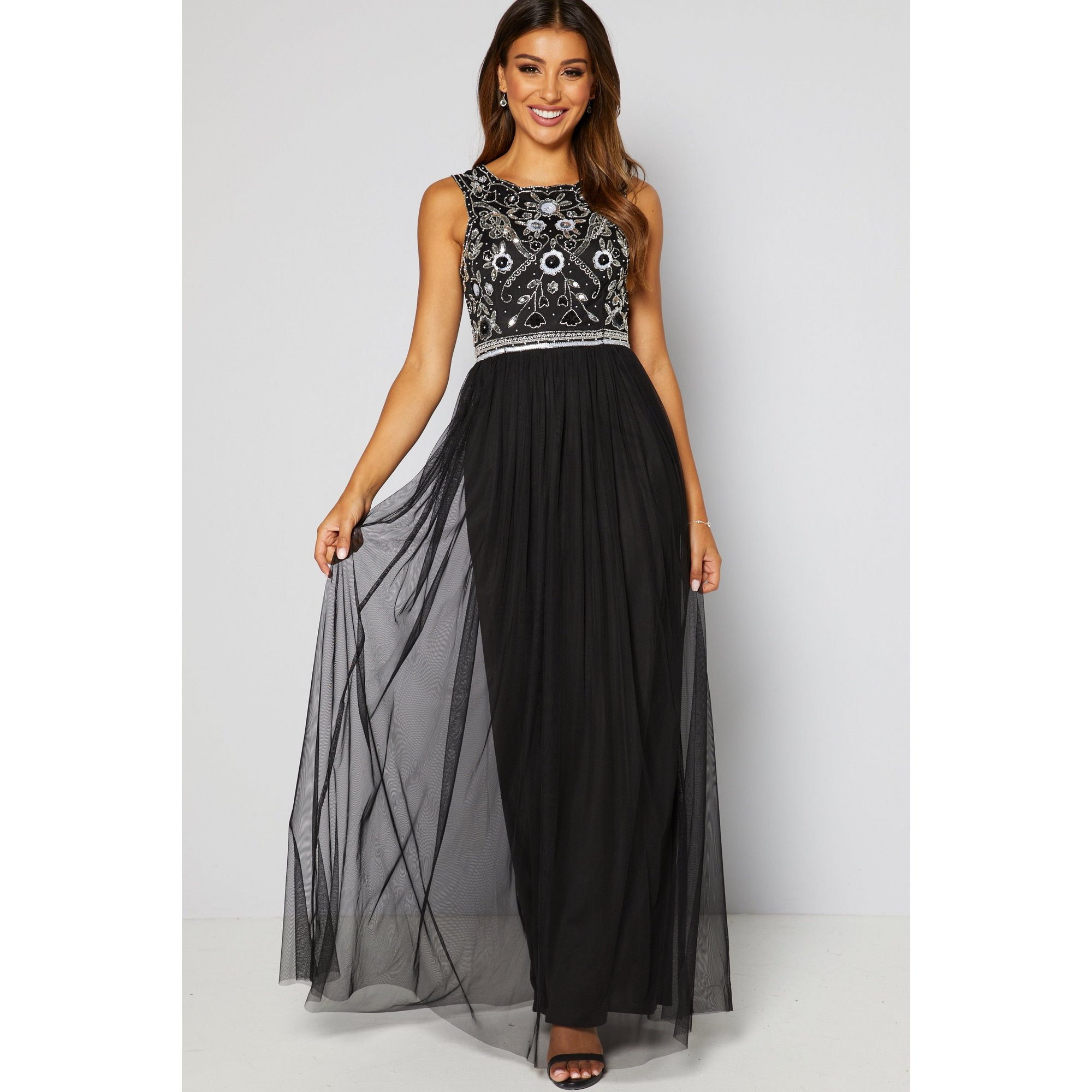 Image of Frock and Frill Clelia Embellished Bodice Maxi Dress