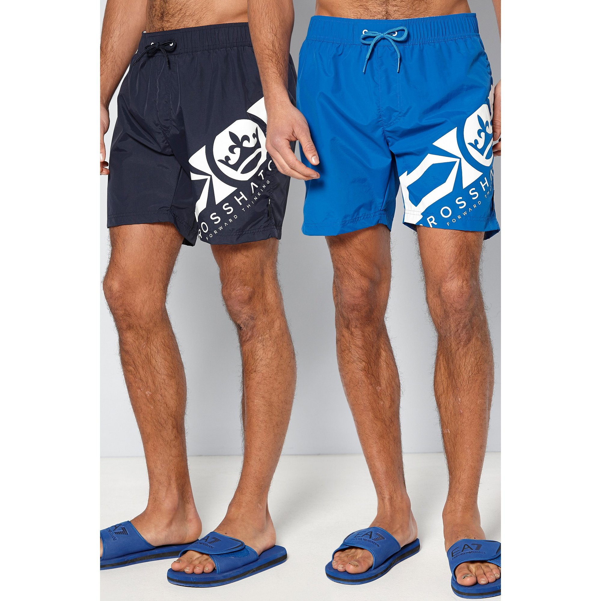 Image of Crosshatch Pack of 2 Swim Shorts