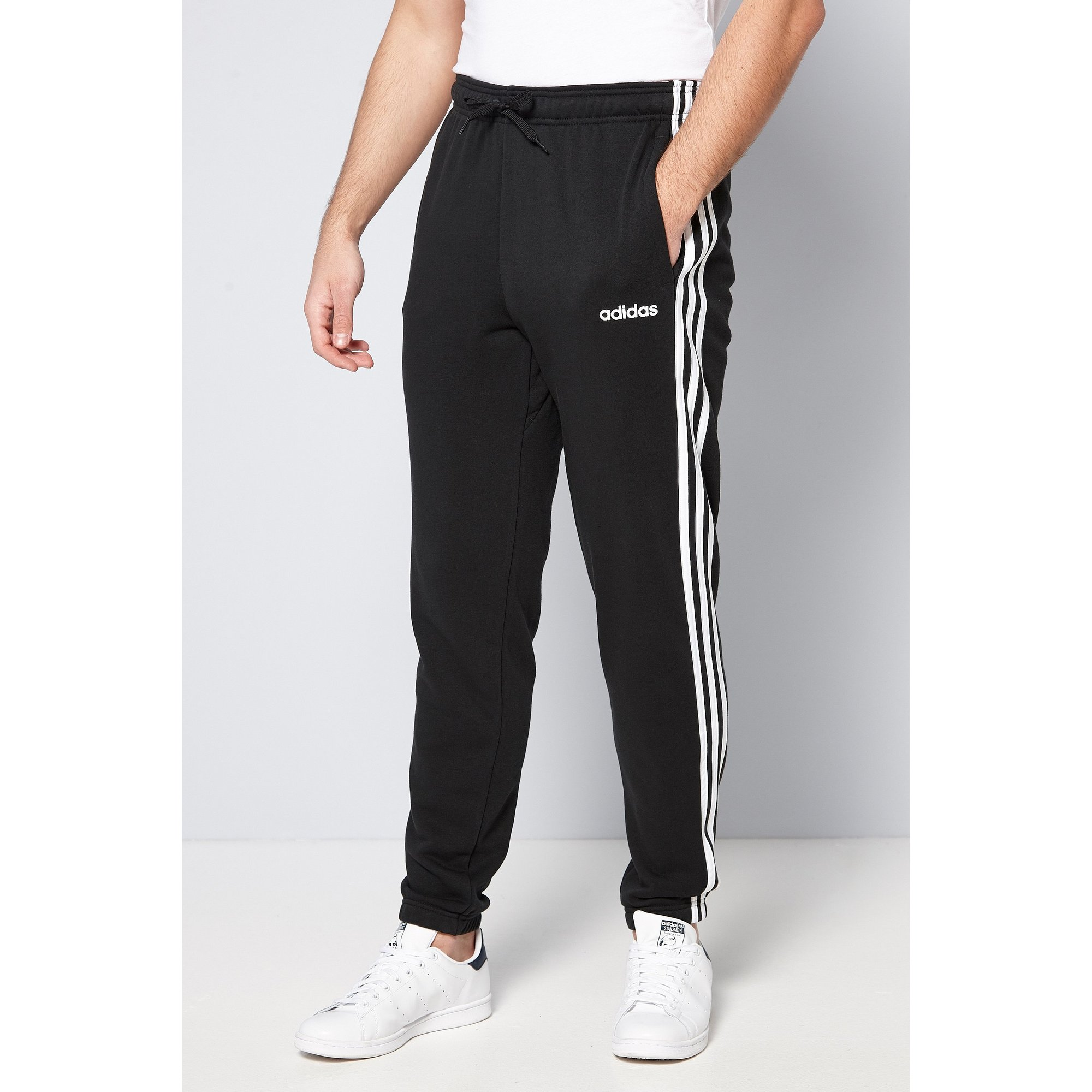 Image of adidas Essentials 3 Stripe Tapered Joggers