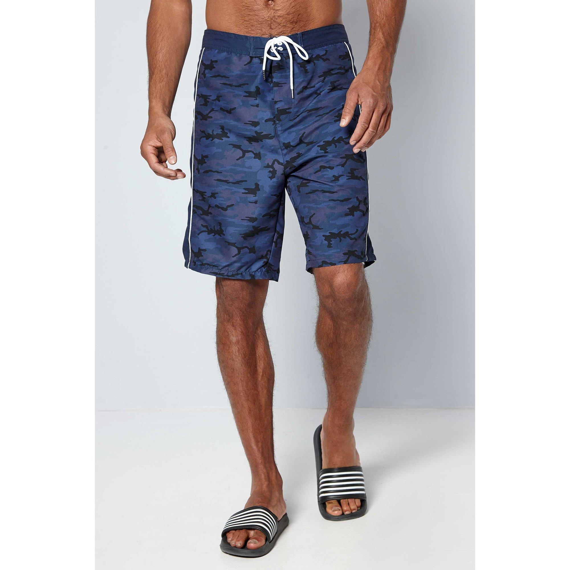 Image of Camo Print Board Swim Shorts