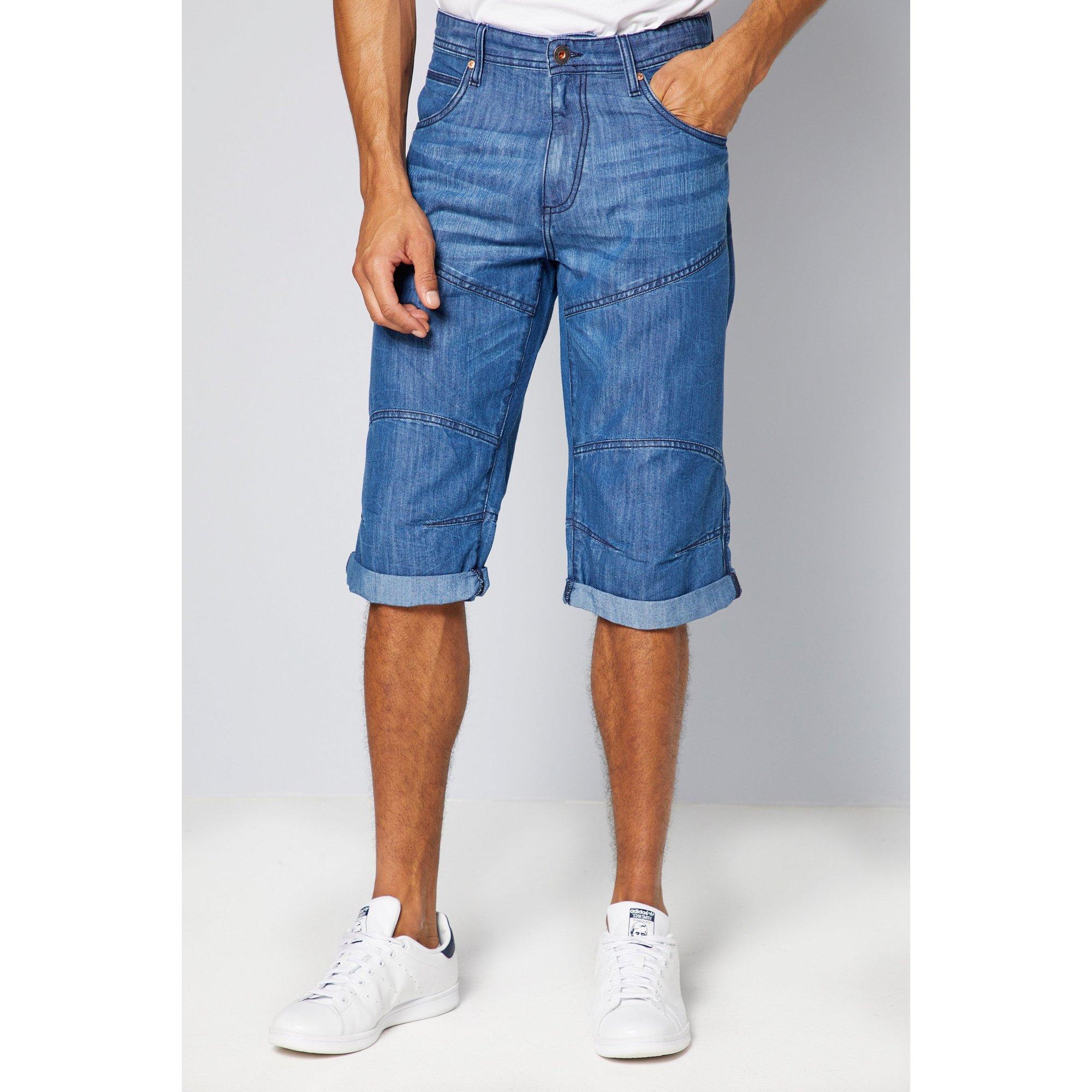 Image of 3/4 Long Denim Shorts
