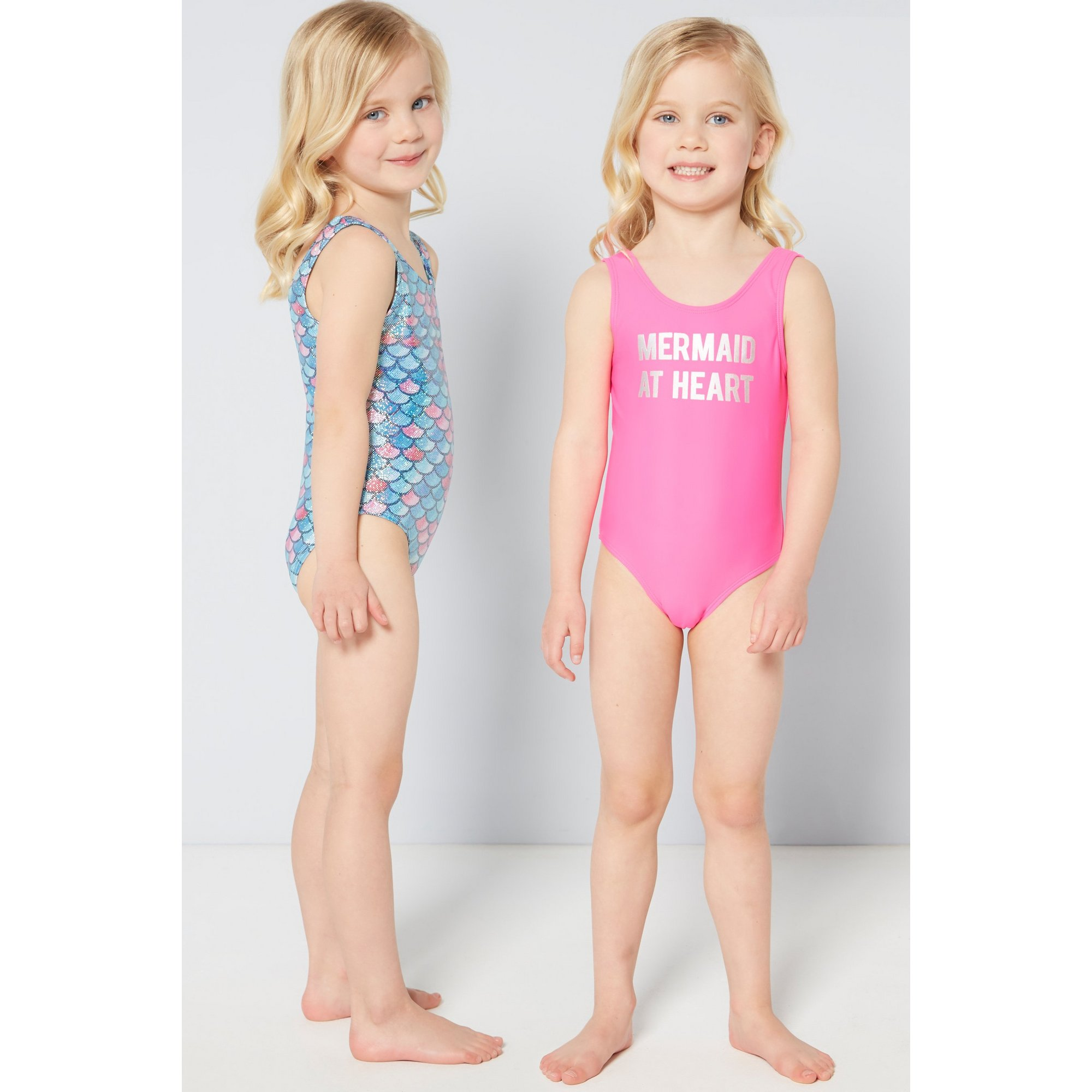 Image of Younger Girls Pack of 2 Mermaid Swimsuits