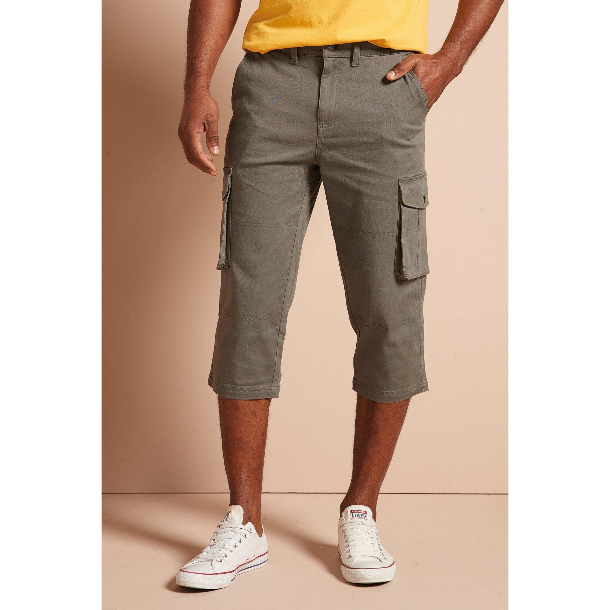 Image of 3/4 Length Cargo Shorts