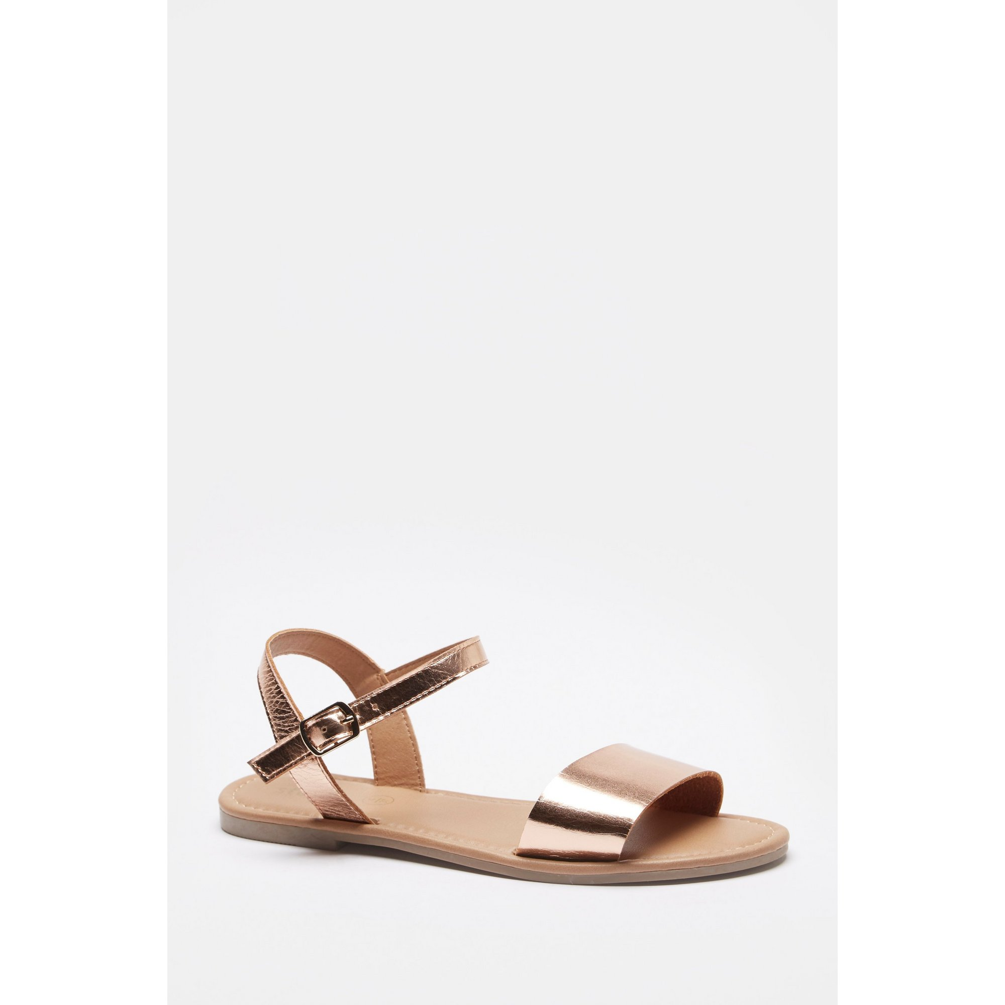 Image of Girls Mini Me 2 Part Gold Sandals