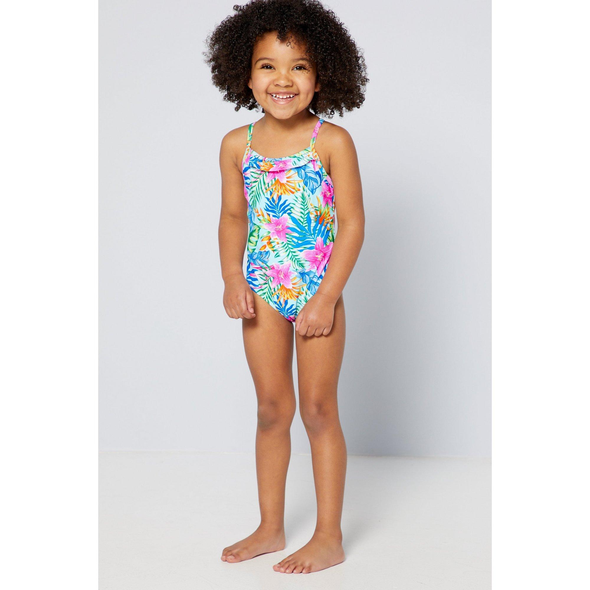 Image of Girls Rainbow Island Family Swimsuit