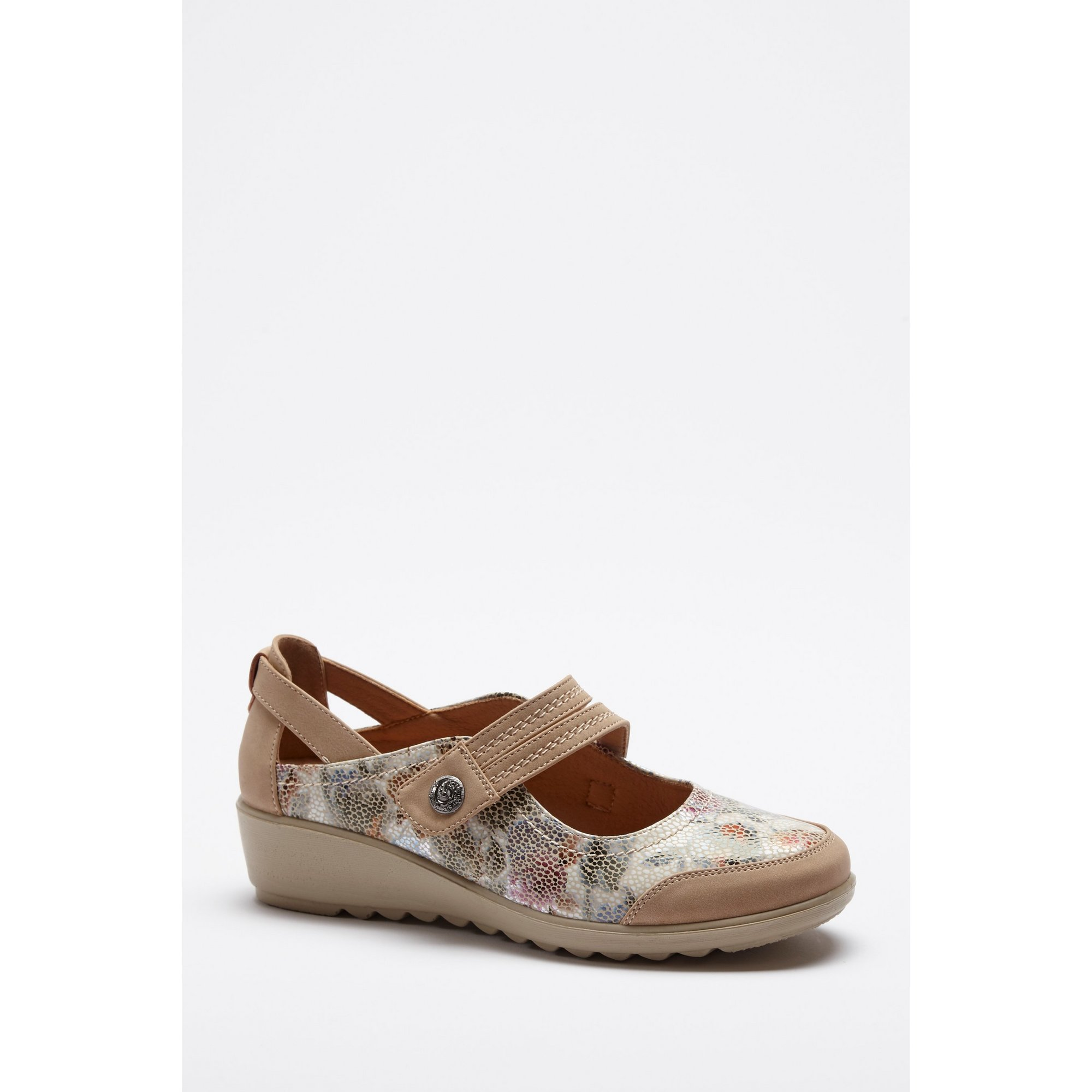 Image of Cushion Walk Floral Mary Beige Shoes