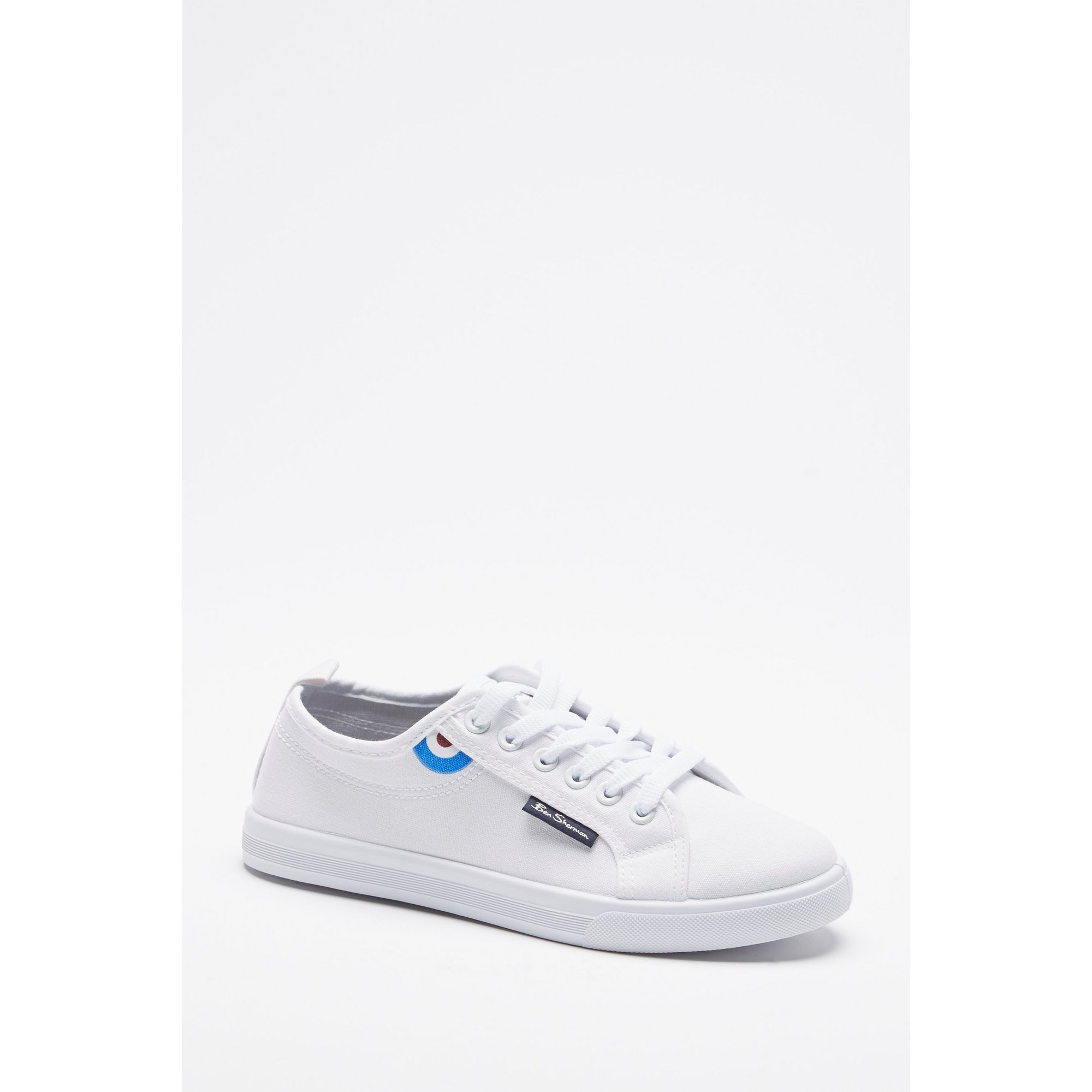 Image of Ben Sherman South Logo Lace Up Plimsole Trainers