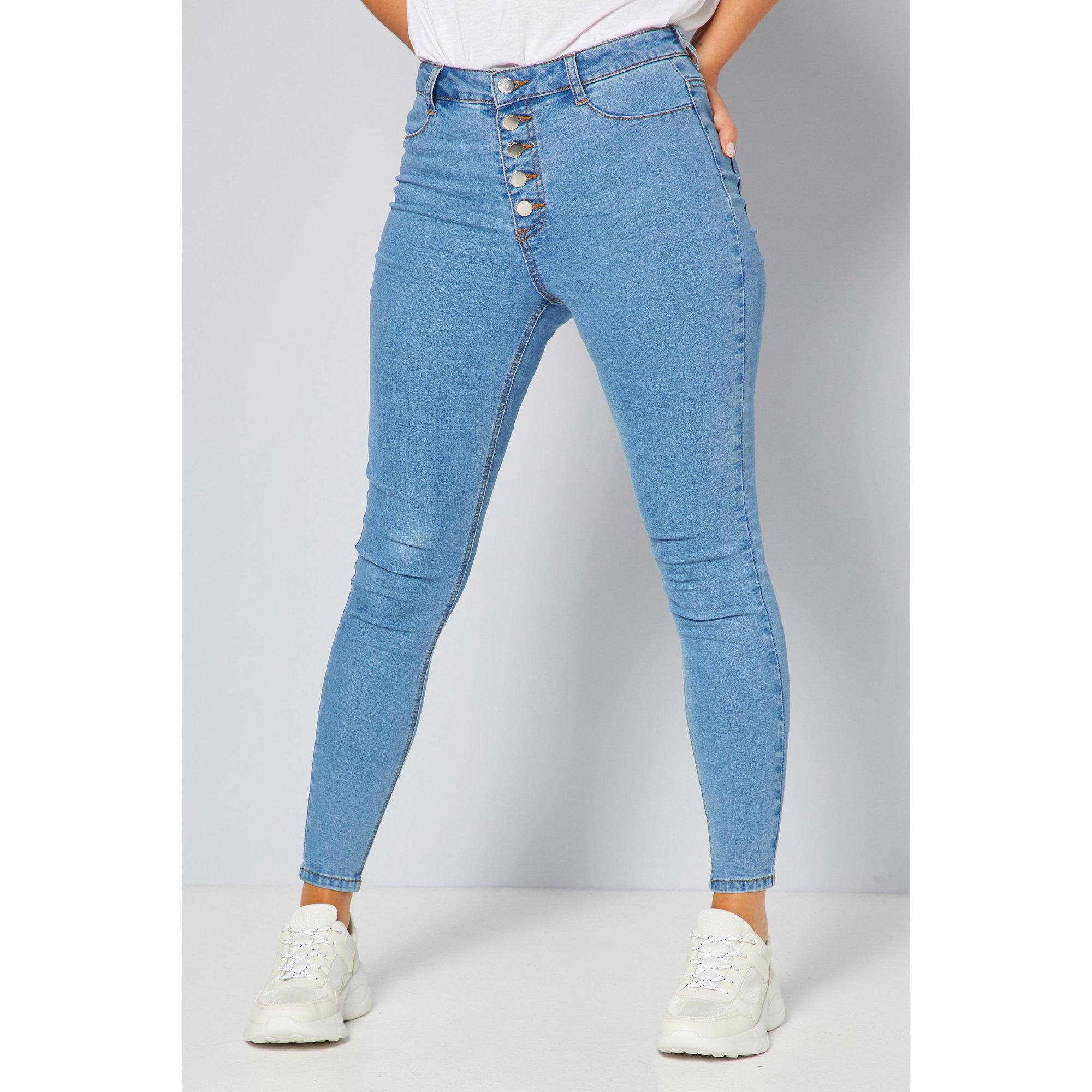 Image of 4 Button Detail Jeans