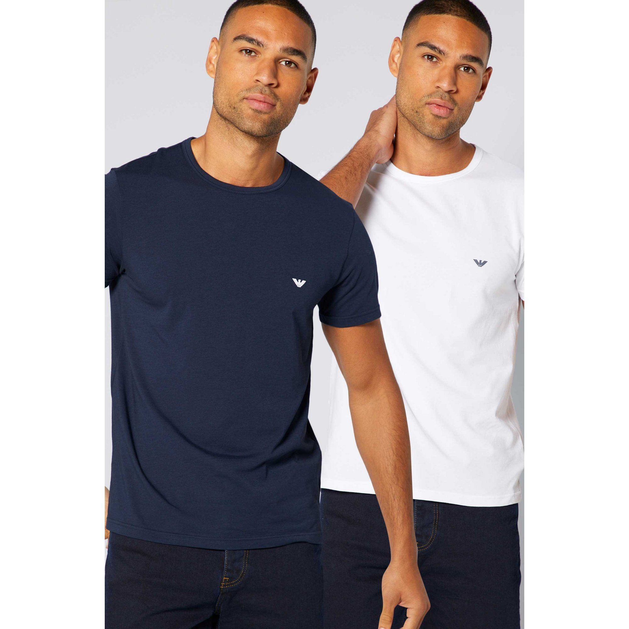 Image of Emporio Armani Pack of 2 Small Logo T-Shirts